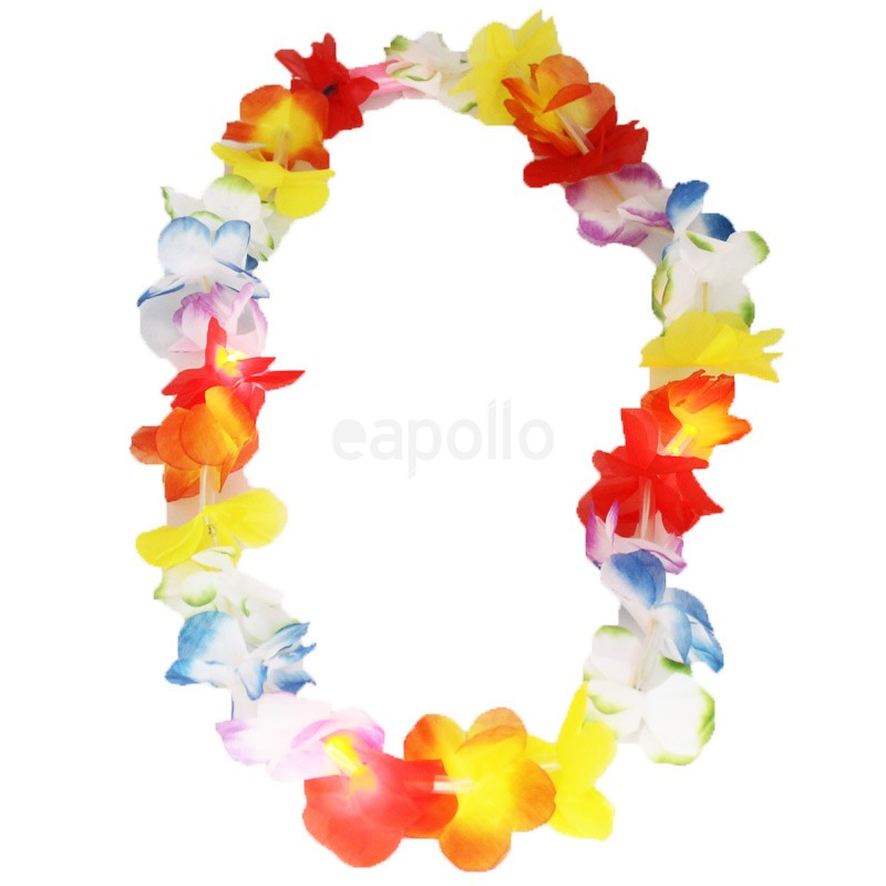 theme garland hawaiian beach decoration hawaii hula silk wreath product summer luau party store necklace lei flower leis