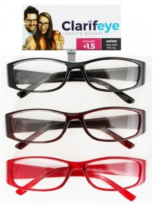Clarifeye Reading Glasses +1.5 - Assorted Colours