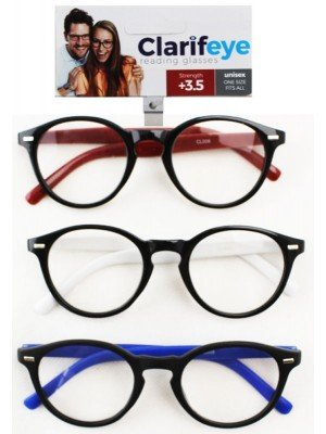 Clarifeye Reading Glasses +3.5 - Assorted Colours
