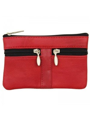 Wholesale Leather Coin Purse-Red(13cm x 9cm)