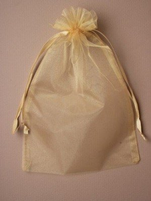 Light Gold Organza Bag (30 x 21cm)