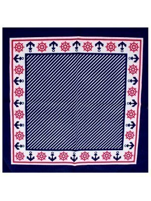 Sailor Pattern Bandana (Anchors & Helms)