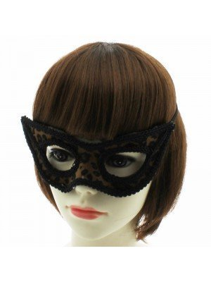 Eye Mask on Elastics Leopard Design