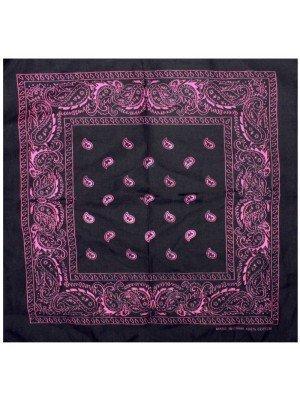 Paisley Bandana - Black/Pink