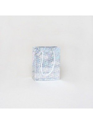 Silver Holographic Foil Gift Bag 15x12x6cm