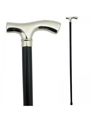 Nickle Crutch Handle Walking Stick