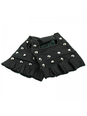 Conical Studded Fingerless Gloves - XL