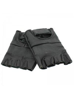 Fingerless Leather Gloves -S