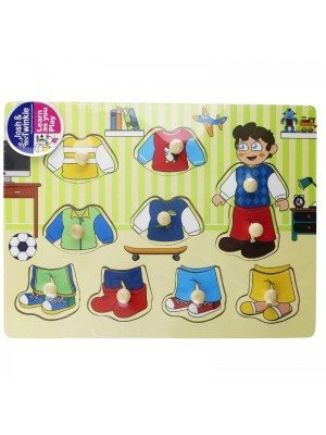 Wooden Change Clothes Matching Educational Toy/Puzzle