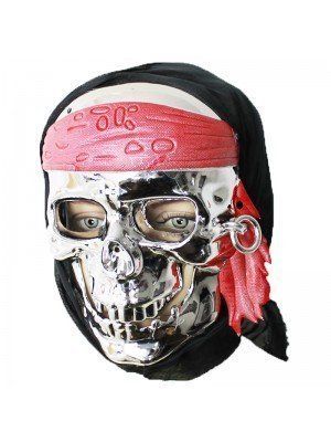 Silver Skull Pirate Mask