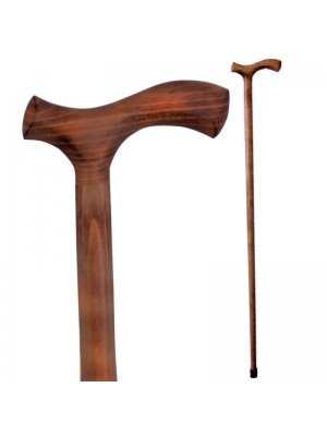 Beech Gentleman Crook Walking Stick Brown