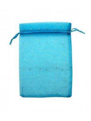 Wholesale Organza Favour Bags - Blue