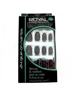 wholesale Royal Glue-On Nail Tips -MOCCA (24 Nails)