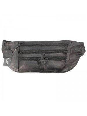 Wholesale Biggs & Bane Genuine Leather Black Bum bag