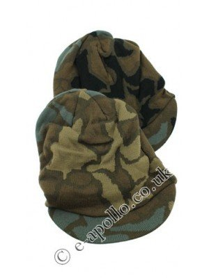 Mens Reversible Camouflage Peak Hat - Assorted Colours