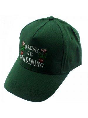 Baseball Cap Garden Design Green