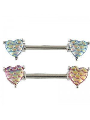 Wholesale Mermaid Hearts Nipple Bar