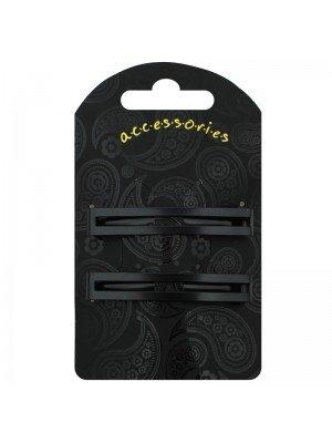 Double Bar Hair Clip (Black)