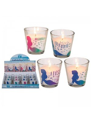 Candle in glass - Mermaid collection