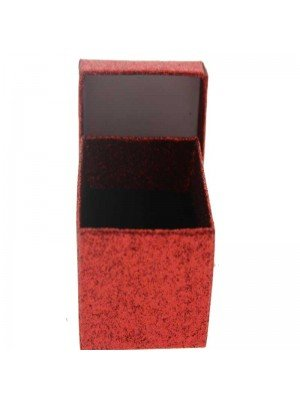 Red glitter gift box 5x5x3.5cm