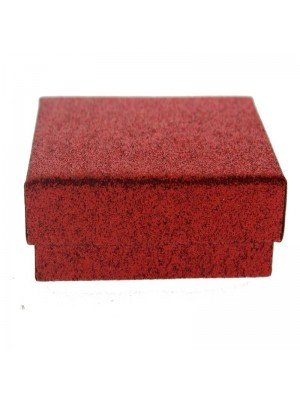 Red glitter gift box 8x5x2.5cm