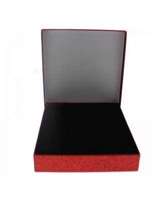 Red glitter gift box 18x14x2.6cm