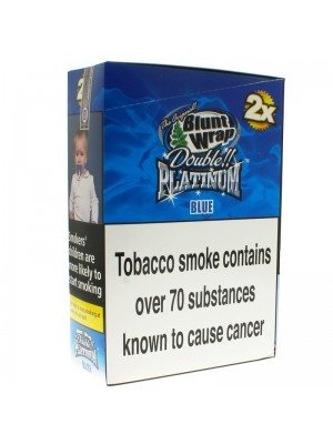 Blunt Wrap Double Platinum 2x - Blue