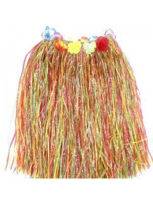 Hula Hawaiian Skirt - Multicolour (40cm)