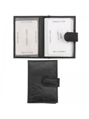 Genuine Leather Card Holder - Black