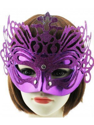 Glitter Face Mask Purple