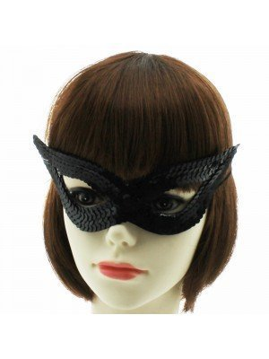 Sequined Eye Mask - Black