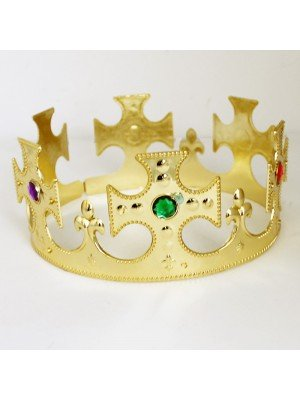 Plastic Gold Crown - Cross Shape