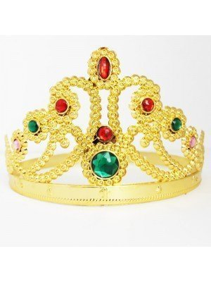 Plastic Gold Crown - Diamond Design