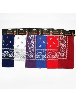 Wholesale Paisley Bandanas On Header With Euroslot - Assorted Colours