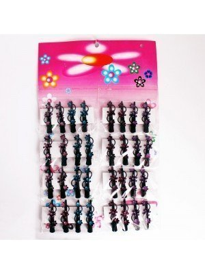 Glittered Flowers Concord Clips - Assorted Colours