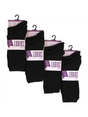 Wholesale Ladies Plain Black Socks (3 Pair Pack)