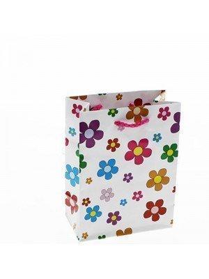 Daisy Flower Print Gift Bags - 11.5cm x 15cm x 6cm
