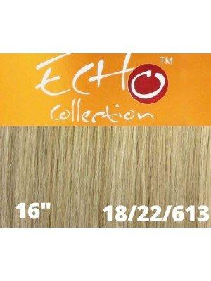 """Echo Human Hair Extensions - European Weave - Colour: 18/22/613(16"""")"""