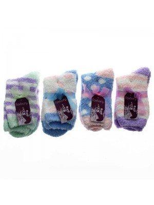 Wholesale Ladies Soft Slipper Socks - Assorted Designs