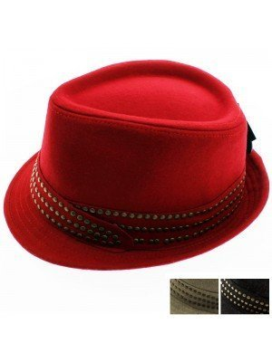Wool Trilby Studded - Assorted Colours