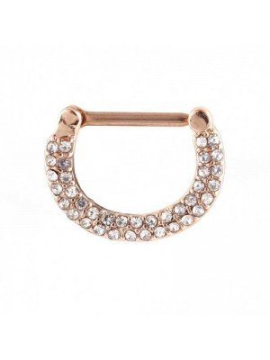Wholesale Rose Gold Multi Gem Nipple Clicker 14mm