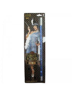 1920's Blue Sequin Cigarette Holder - Fancy Dress