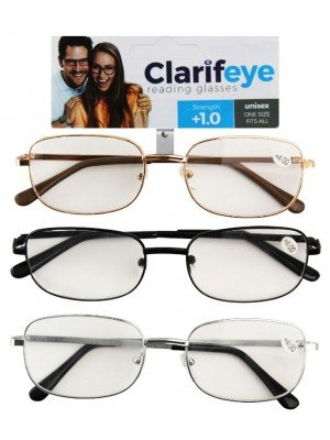 Clarifeye Reading Glasses +1.0 - Assorted Colours