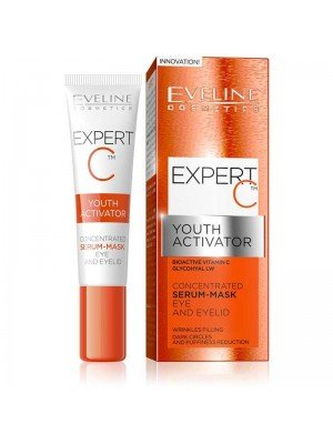 Eveline Expert C Youth Activator - Concentrated Eye and Eyelid Serum-Mask