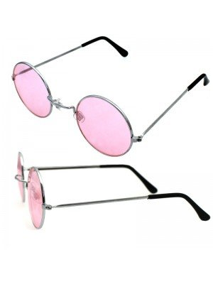 Wholesale Unisex Fashion Round Glasses - Pink