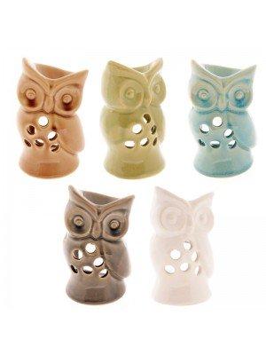 Ceramic Owl Oil Burner Assorted Colours