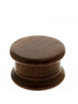 2 Parts Wooden Grinders- Dark Brown