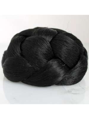 Lattice Style Instant Bun (Jet Black)