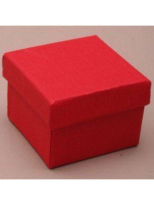 Square Gift Box Red(5x 5x 3.5cm)