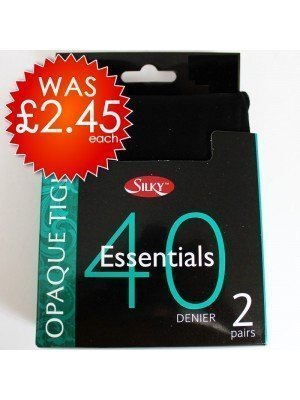 Silky 40 Denier Essentials Opaque Tights (Large)